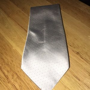 Silver micro-dot design Necktie! Christian Grey??